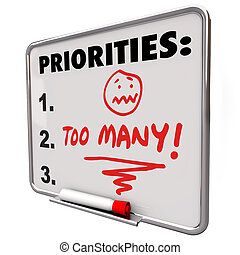 to-do, tâches, travaux, beaucoup, liste, priorities, accabler