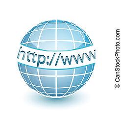 toile, http, www, globe, internet