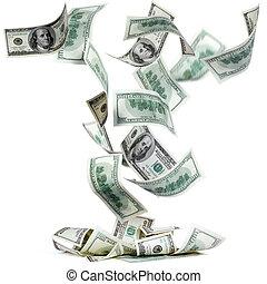 tomber, dollars