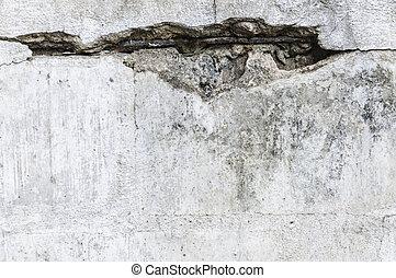 toqué, mur, béton