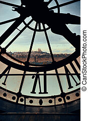 tour, horloge