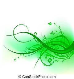 tourbillon, vert, conception