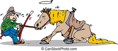 traction, cheval, début