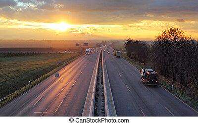 trafic, cars., autoroute