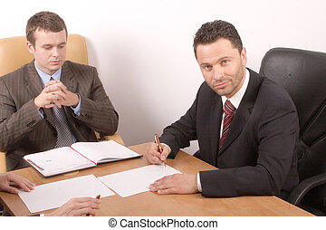 travailler hommes, business
