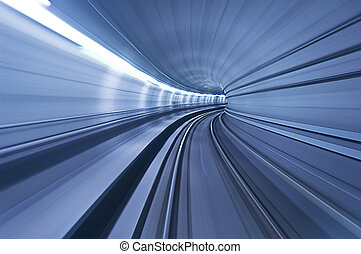 tunnel, grande vitesse, métro