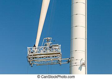 turbine, entretien, vent