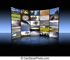 tv, panneau