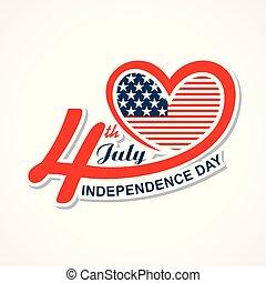 uni, salutation, etats, 4ème juillet, jour, indépendance, heureux