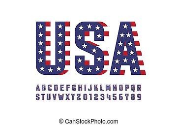 usa, style, drapeau, national, police