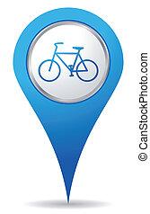 vélo, emplacement, icônes