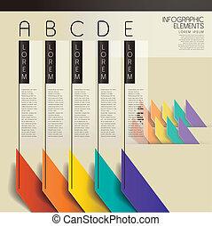 vecteur, barre, résumé, diagramme, infographic, éléments