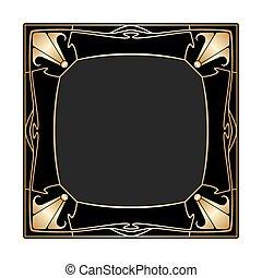 vecteur, deco, art, frame.