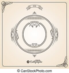 vecteur, o, symbols., lettre, certificat, glyph., cadre, symbole., collection, calligraphic, écrit, éléments, conception, retro, fotn, invitation, plume, main, decor., frontière