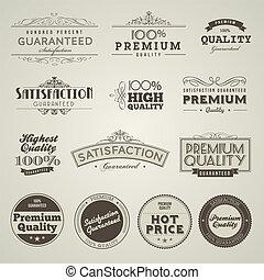 vendange, étiquettes, prime, qualité