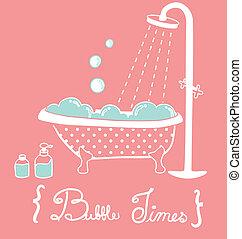vendange, baignoire