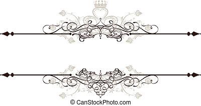 vendange, bannière, décoratif