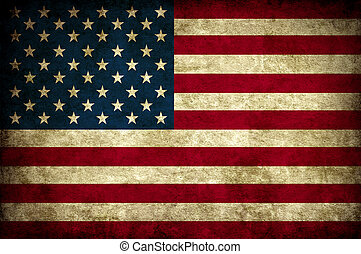vendange, drapeau, usa