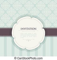 vendange, fond, invitation