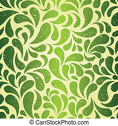 vendange, papier peint, vert