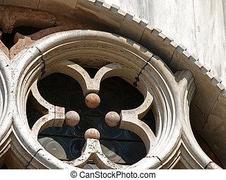 venise, symbole, -, tracery, vénitien, une