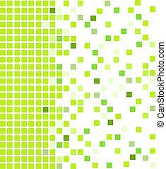 vert, mosaïque, fond