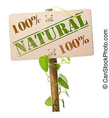 vert, naturel, bio, signe