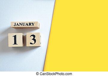 vide, 13, jaune, -, arrière-plan., janvier, blanc