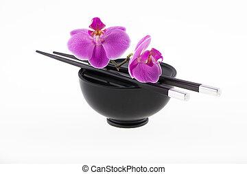 vie, encore, asie, orchidée