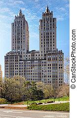 ville, bâtiments, parc central, midtown, york, nouveau, manhattan