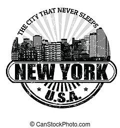 ville, timbre, (, jamais, sleeps), york, nouveau