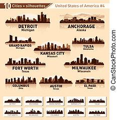 ville, usa, 10, set., horizon, villes, #4