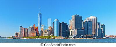 ville, york, nouveau, manhattan, inférieur