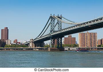 ville, york, nouveau, manhattan lient