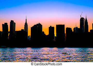 ville, york, nouveau