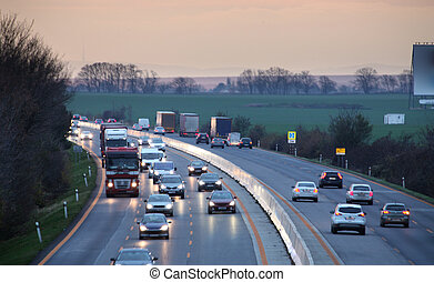 voitures, transport, autoroute