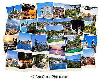 voyage, croatie, photos, pile