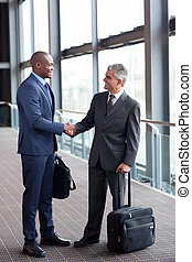 voyageurs, aéroport, réunion, business