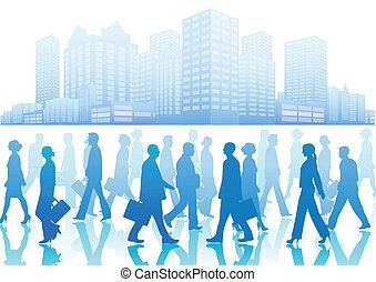 walki, gens, silhouette, business