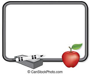whiteboard, pomme, prof