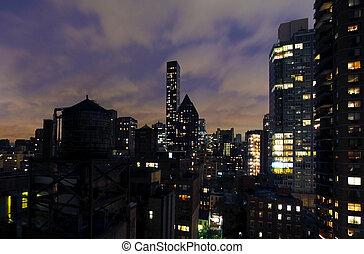 york, nouveau, ville bâtiments