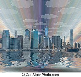 york, nouveau, ville